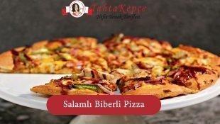 Salam ve Biberli Milföy Pizza