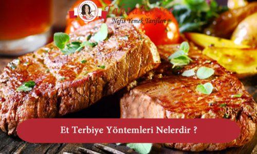 Et Terbiye Yöntemleri Nelerdir ?
