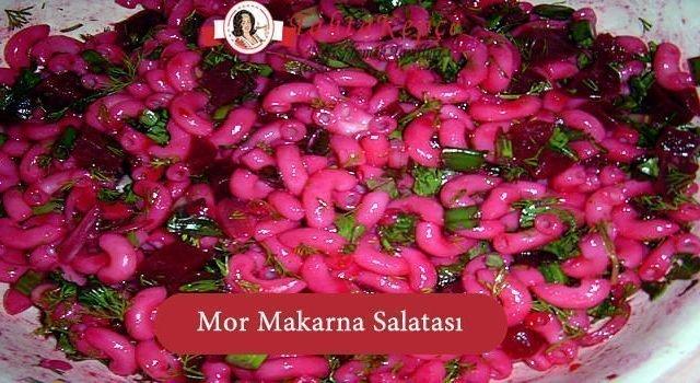 Mor Makarna Salatası
