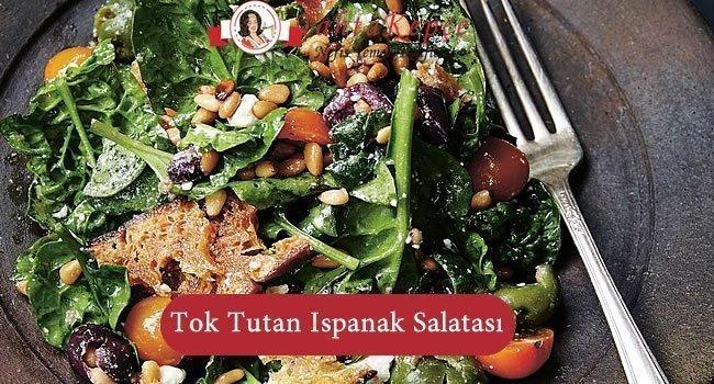 Tok Tutan Ispanak Salatası