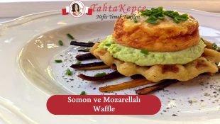 Somon ve Mozarellalı Waffle