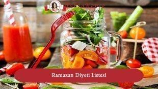 Ramazan Diyeti Listesi