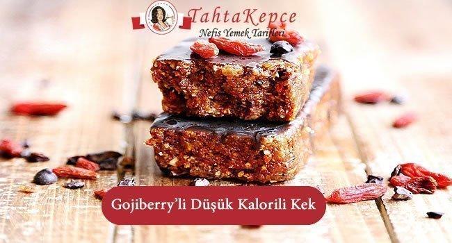 Gojiberry'li Düşük Kalorili Kek