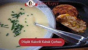 Düşük Kalorili Kabak Çorbası