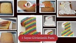 1 Sayısı Görünümlü Pasta