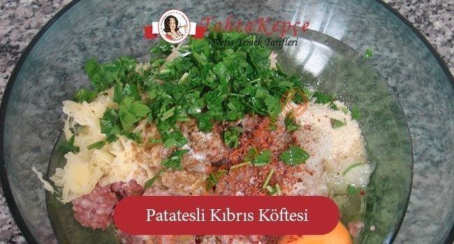Patatesli Kıbrıs Köftesi