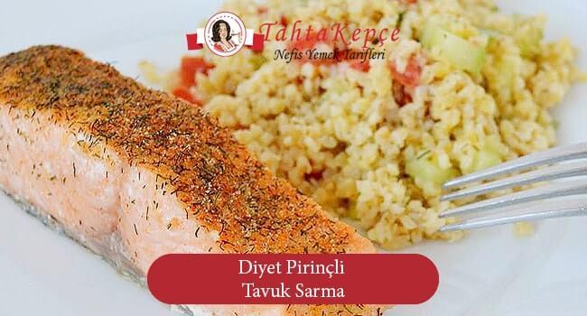 Diyet Pirinçli Tavuk Sarma