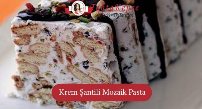 Krem Şantili Mozaik Pasta