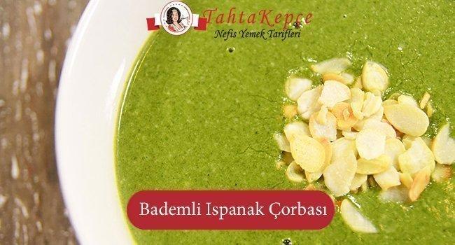 Bademli Ispanak Çorbası