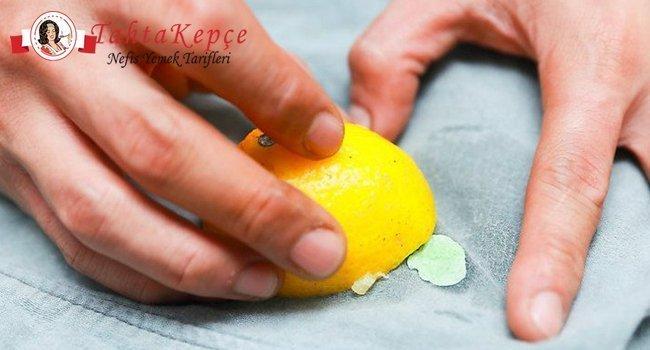 Limonla Nar Lekesi Cikarma
