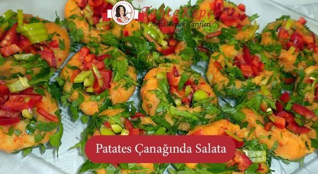 Göz Dolduran Sunum ile Patates Çanağında Salata