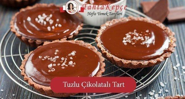 Çat Kapı Gelen Misafirler için: Pratik Tuzlu Çikolatalı Tart