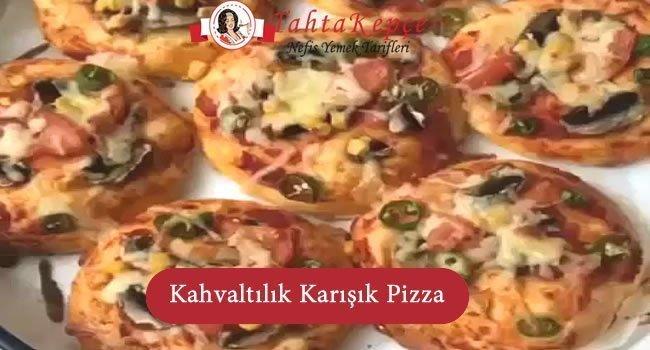 kahvaltılık karışık pizza tarifi