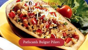 Patlıcanlı Bulgur Pilavı