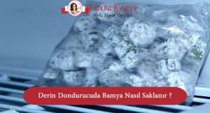 Derin Dondurucuda Bamya Nasıl Saklanır ?