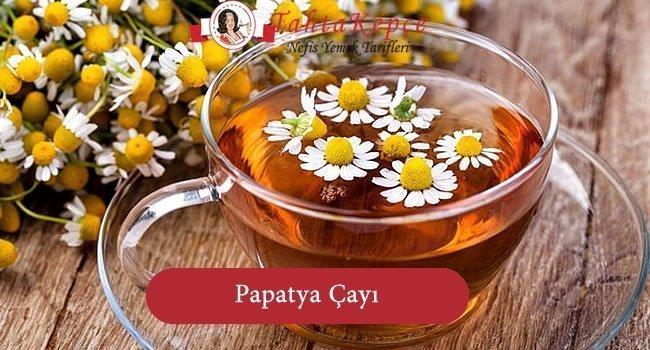 papatya çayı hazırlama