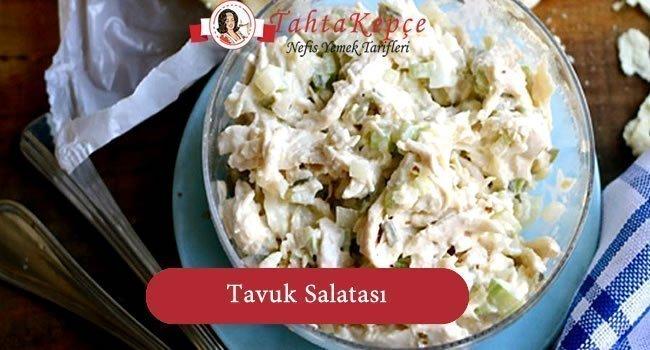Erikli Tavuk Salatası