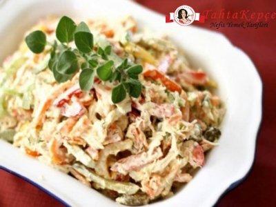 dolma biberli tavuklu salata