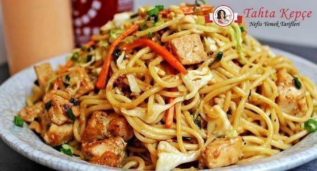 tavuklu fıstıklı spagetti