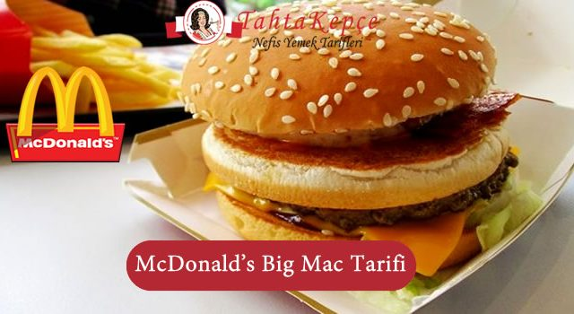 McDonald's Big Mac Tarifi