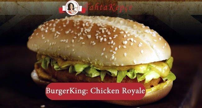 Burger King: Chicken Royale Tarifi